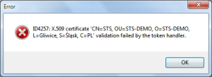 Certification validation exception Future Processing