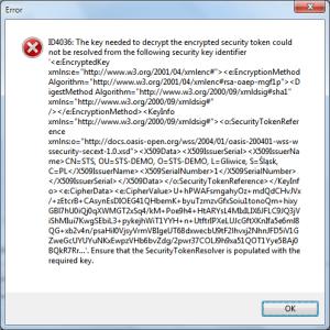 Token decryption error Future Processing