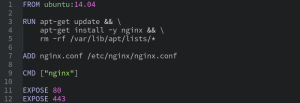 Sample dockerfile - Future Processing